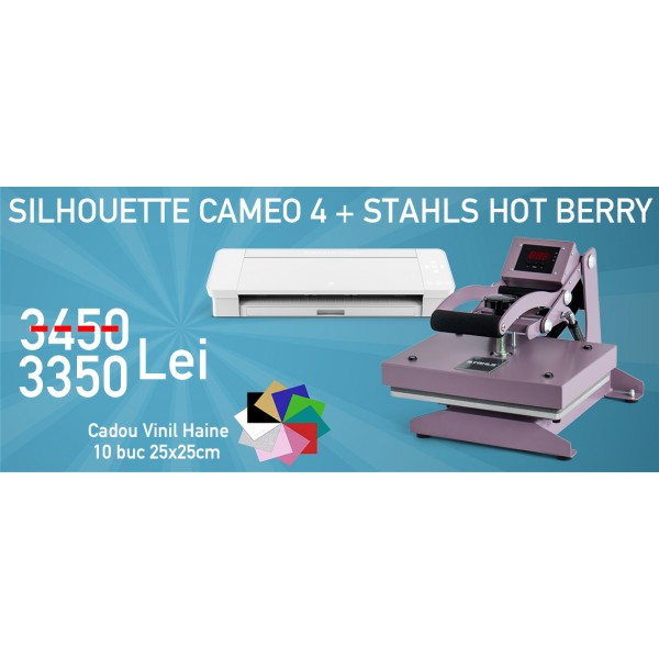 Silhouette Cameo 4 + Stahls Hot Berry